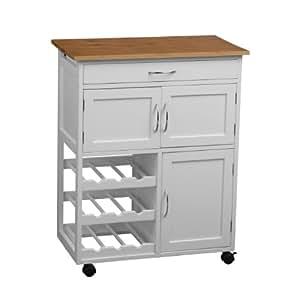 Premier housewares 2403411 carrello da cucina bianco e for Top cucina amazon