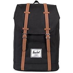 Herschel Retreat Backpack - Mochila casual unisex, Negro (Black), 23 L