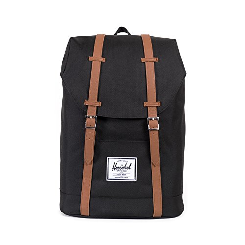 Herschel Retreat Backpack - Mochila casual unisex, Negro (Black), 23 L