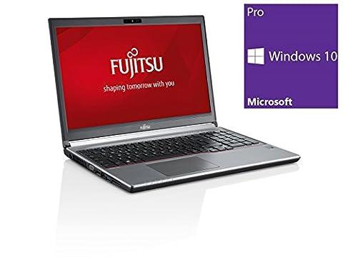 Fujitsu Lifebook E756 Ordinateur portable - 15,6 pouces - Intel Core i5-6200U @ 2,3 GHz - 8 Go DDR4 RAM - 500 Go HDD - Sans lecteur - Clavier Allemand - Windows 10 PRO 64 bits préinstallé - Garantie 12 mois - Reconditionné Certifié