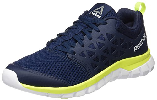 Reebok Bd5534, Sneakers trail-running homme Bleu (Collegiate Navy/solar Yellow/white/pewter)