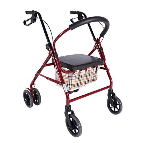 Einkaufstrolleys Einkaufswagen Zusammenklappbarer Einkaufswagen Senioren Einkaufswagen Klappsitz Kann Sitzen Vier Runden Kaufen Lebensmittel Maximale Tragfähigkeit 140kg Taschen