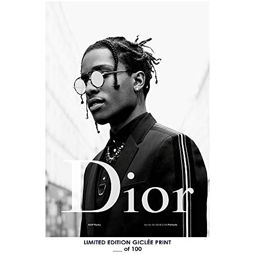 Giclee Art Prints Wall Poster 18x12 ASAP Rocky Dior 2- Limited Edition - 2 Riesen Poster