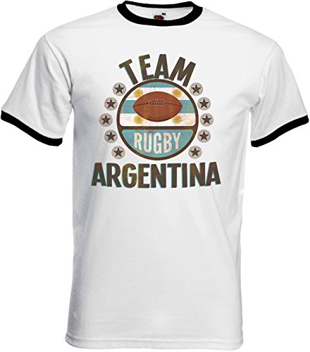 Team Argentina Rugby Mens Retro T-Shirt Camiseta Para Hombre Perfect for  World Cup dfb49d851