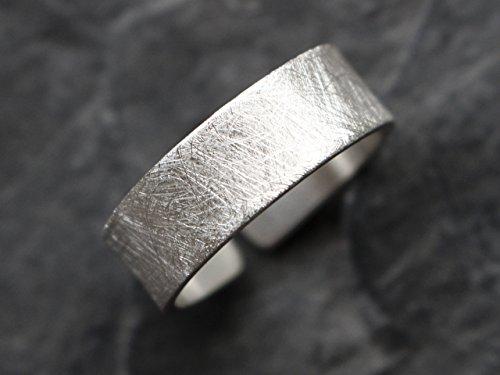 925 Sterling Silber Ring 7mm gebürstet
