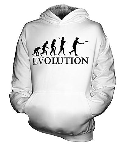 CandyMix Frisbee Evolution Des Menschen Unisex Kinder Jungen/Mädchen Kapuzenpullover, Größe 1-2 Jahre, Farbe Weiß