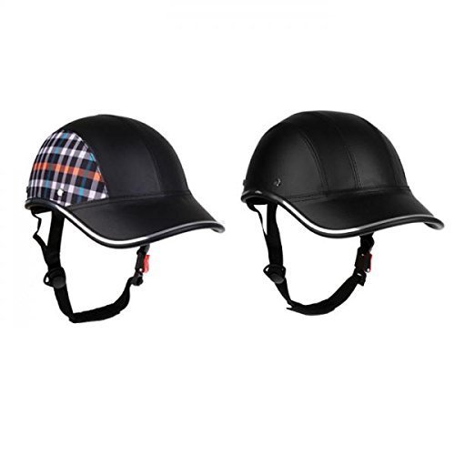 MagiDeal 2pcs Baseball Cap Style Motorrad Fahrradhelm Anti-UV-Safe Helm Visier Hut