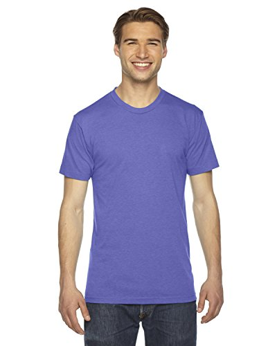 Unisex Triblend Short-Sleeve Track T-Shirt TRI ORCHID S (American Apparel-track Shirt)