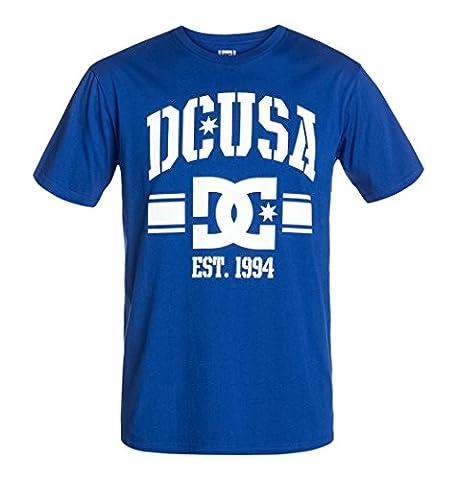 DC Shoes Alumni - T-shirt - Col ras du cou - Manches courtes - Homme - Bleu (Royal Blue) - Large (Taille fabricant: L)