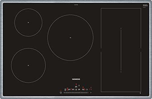 Siemens ED845FWB1E Integrado Con - Placa (Integrado, Con placa de inducción, Vidrio y cerámica, Negro, Acero inoxidable, 3100 W, 14,5 cm)