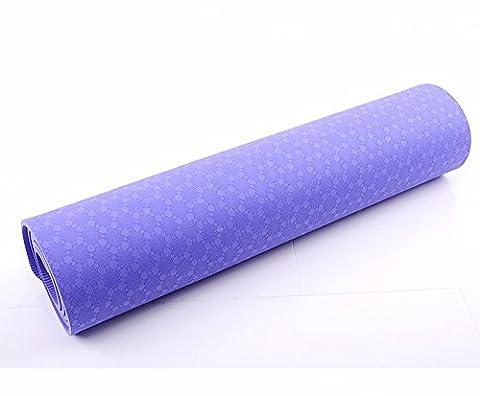 MDRW-Amateurs De Yoga Mat Pilates Yoga Non Parfumée 10Mm Épaississement Élargissement Antidérapant Tapis De Pilates Yoga Débutants Exercice Fitness Tapis De Pompes 183*61Cm Violet Tapis De Yoga