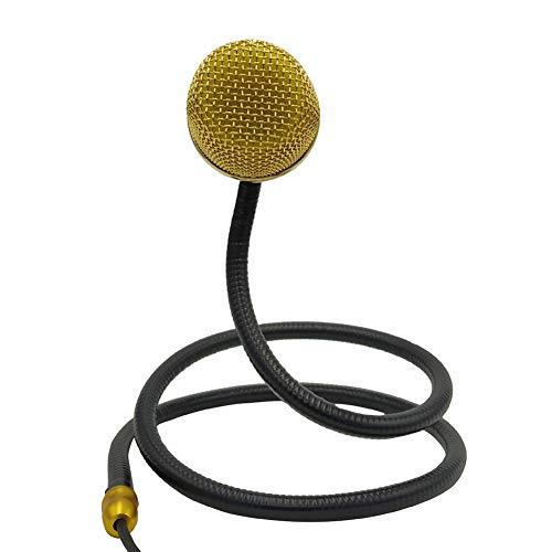 Sguan-wu Snake portátil Micrófono con cable Amplificador de guitarra Grabación Altavoz Cantante - Lujo Dorado