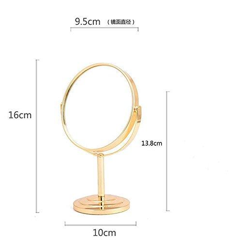 Qinlei doppia tabella trucco specchio metallico acciaio inossidabile ingrandita tabletop dimensioni como,h.