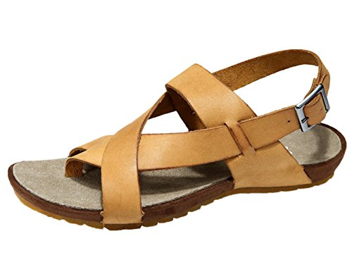 Insun Herren Sandalen Normal Flach Peep-Toe Schnellverschluss Pantoletten Sandaletten Gelb