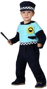Atosa-16117 Disfraz Policía, Color negro, 12 a 24 meses (8.42226E
