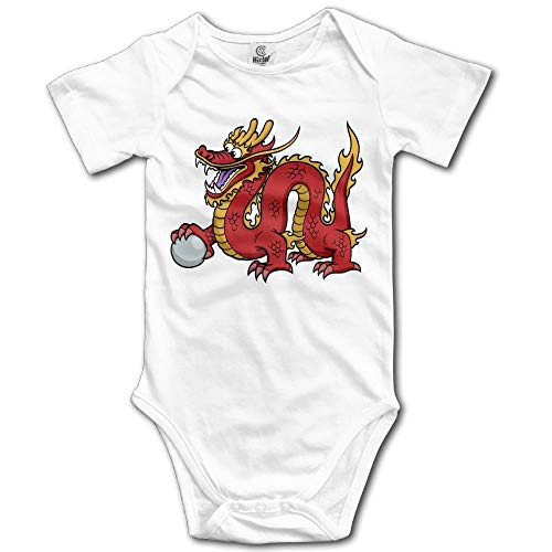 TKMSH Chinese Dragon Boy's & Girl's Short Sleeve Jumpsuit Outfits ()