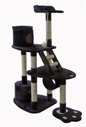 Go Pet Club 59-inch Katze Baum, dunkelgrau (Condo Pet-möbel Scratcher)