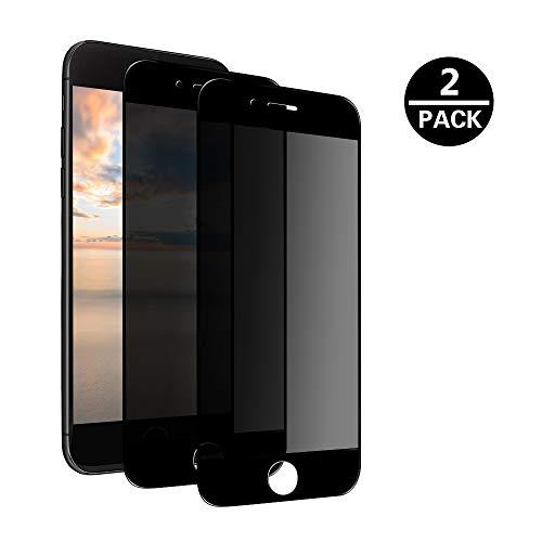 MoEvn Schutzfolie Sichtschutz Blickschutzfolie für iPhone 6S Plus, Anti-Spähen 3D Gehärtetem Glas 2 Stück Privacy Panzerglas Displayschutzfolie für iPhone 6 Plus/6S Plus (5.5