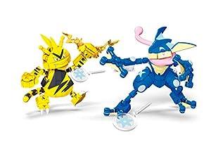 Mattel - Mega Construx Pokemon figuras Greninja vs. Electabuzz juguete niños + 6 años ( GFV84)