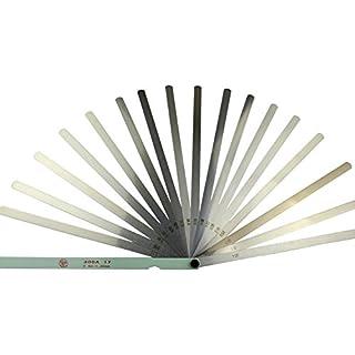 Ahl 17Klinge Messbereich 0,02–1mm Metall Fühlerlehre Werkzeug 300mm