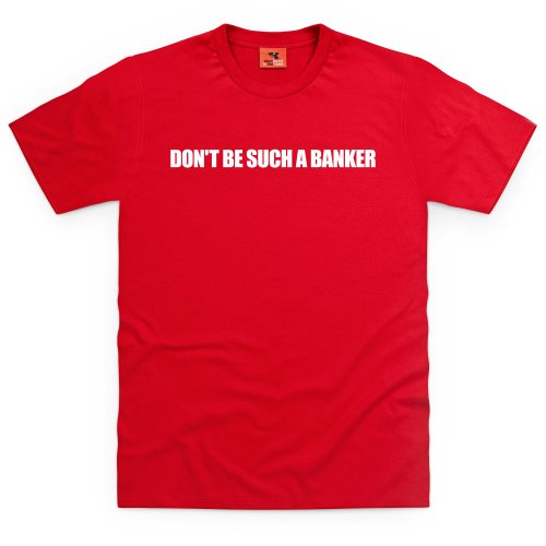 Square Mile Such a Banker T-Shirt, Herren Rot