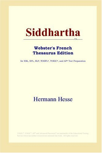 Siddhartha Webster's French Thesaurus Edition
