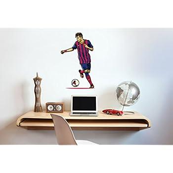 Barcelona neymar wall sticker decal football art print for home bedroom mural black