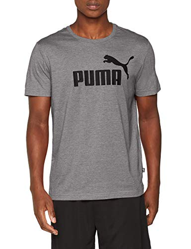 Puma Herren ESS Logo Tee T-Shirt, Grau (Medium Gray Heather), Gr. M (Grau T-shirt Herren)