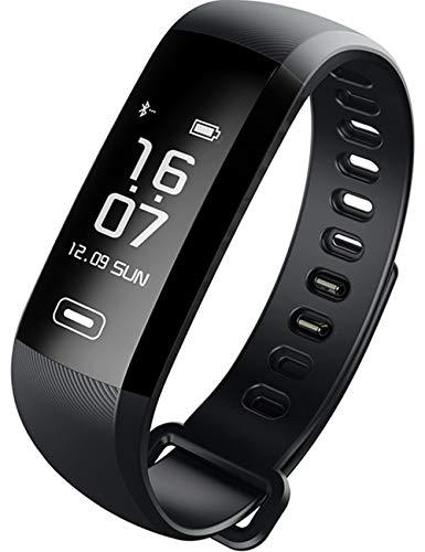 HYK Unisex Fitness Uhr Digital mit Polyurethan Schwarz Armband