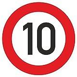 Zulässige Höchstgeschwindigkeit 10 km/h Schild 60 cm reflektierend Norm RA1 STVO Zeichen 274-51