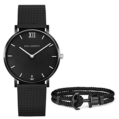 PAUL HEWITT Geschenk für Männer und Frauen Perfect Match - Geschenk Box mit Armbanduhr (Sailor Line) und Armband (PHREP), Damen und Herren