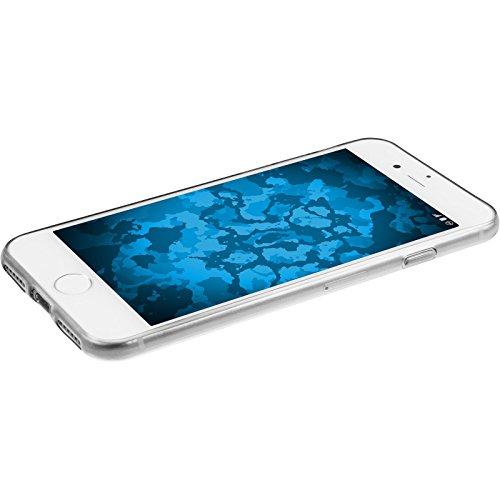 PhoneNatic Case für Apple iPhone 7 Hülle Silikon grau Slimcase Cover iPhone 7 Tasche + 2 Schutzfolien Clear
