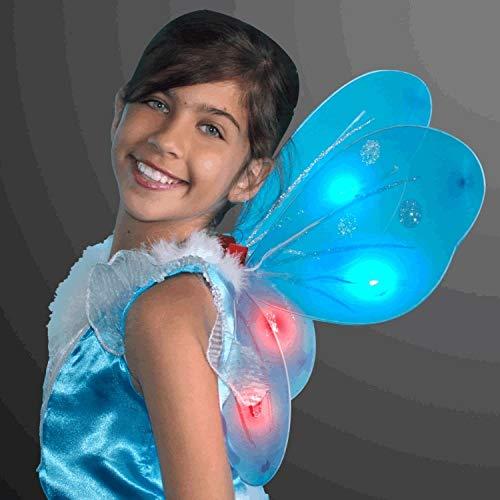 MODEOR Light Up Aqua Fairy Butterfly Wings von This Halloween versichere Dich, GESEHEN LED-Flügel für Ihr Kind, Teenager oder Tween. (Up Wings Butterfly Light)