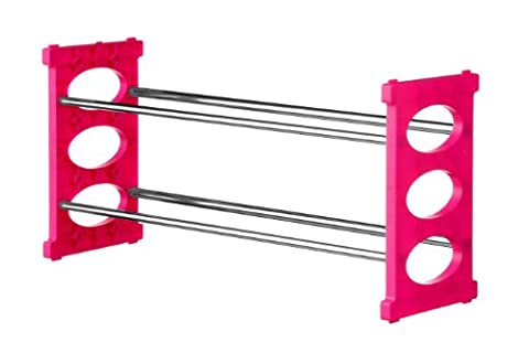 Premier Housewares 2 Tier Shoe Rack - Pink