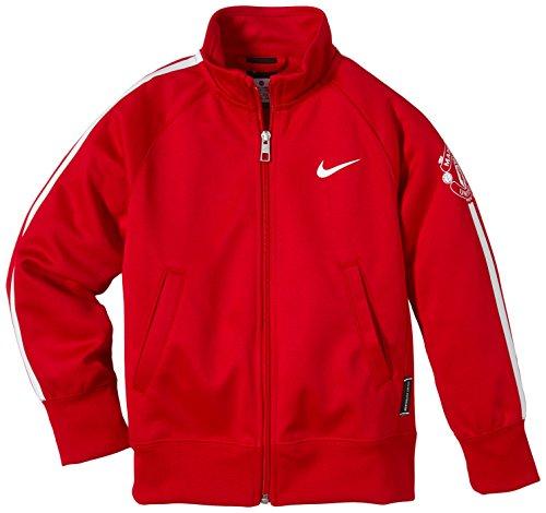 Nike Kinder Jacke Manchester United Track, Diablo Red/White, L, 620295-623 (Neck Sleeve Raglan Herren Mock)