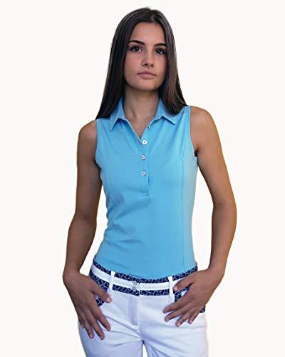 JELFY Elvira –Polo de Golf pour Femme sans Manches Courtes en Jersey Fin de Coton Stretch (M, Pool...