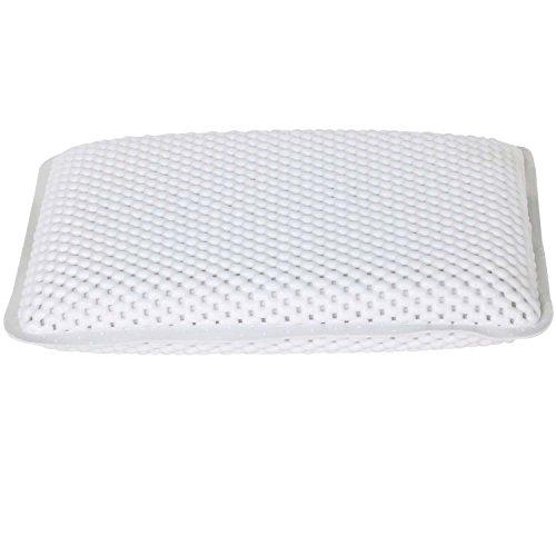 TRIXES Bequemes, weiches Stützkissen in Weiß für Badezimmer und Wellness mit 8 Saugnäpfen, neu
