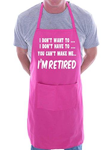 Print4U I no estoy jubilado barbacoa cocinar-delantal