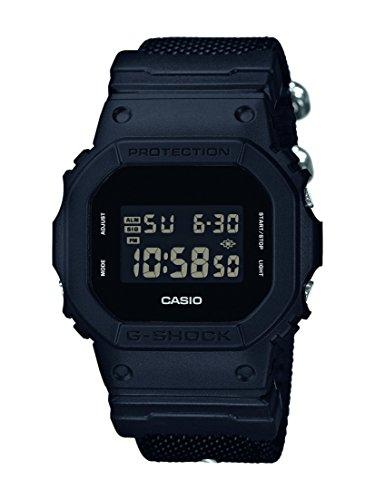 Casio G-Shock Herren-Armbanduhr LED-Indikator Digital Textil DW-5600BBN-1ER