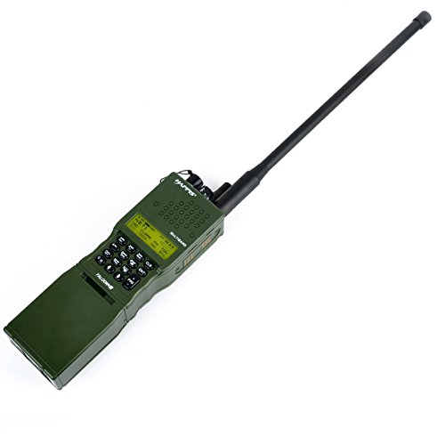 atairsoft Element ohne Funktion Dummy Modell Kunststoff prc-152-Radio Modell Fall und Antenne Kommunikation für Tactical Paintball Softair Cosplay Krieg Spiel (OD GREEN) (Fall Antenne)