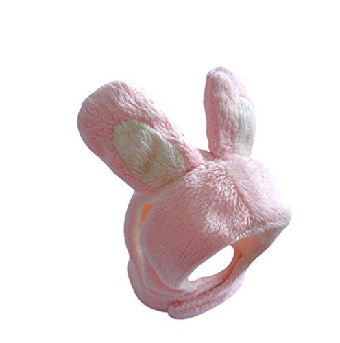 üm für Katzen und kleine Hunde, mit Ohren, Rosa/Weiß, Medium, rosa/weiß ()