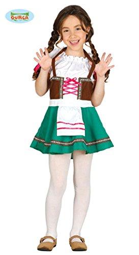 Bayrisches Mädel Dirndl Mädchenkostüm Trachtenkleid Tirolerin Deutsche Tracht Kostüm 110-152, (Tracht Deutsch)
