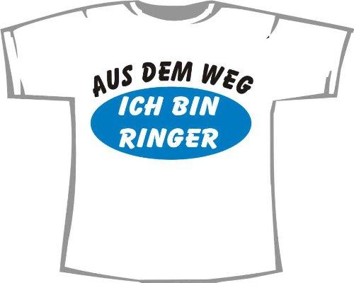Aus dem Weg, ich bin Ringer; Kinder T-Shirt weiß, Gr. 1-2 (2 Ringer T-shirt Kinder)