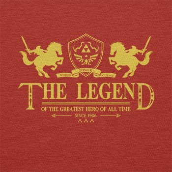 TEXLAB - The Legend - Herren Langarm T-Shirt Rot