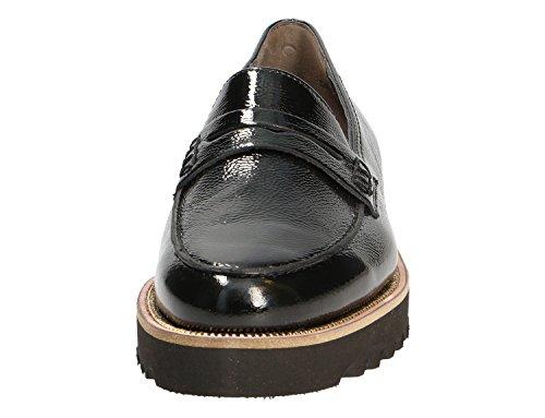 Paul Green Damenschuhe - elegante Slipper - Halbschuhe 1011 Schwarz