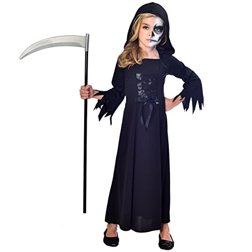 Sensenmann Halloween Kostüm Kinder Mädchen Amscan (Sensenmann Mädchen Kostüm)