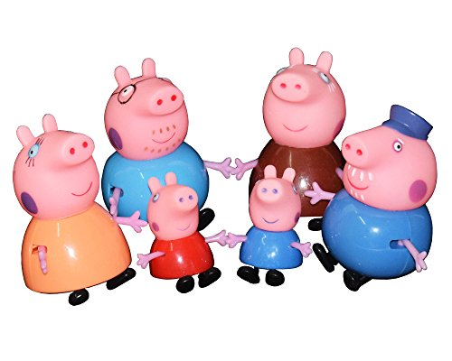 Kiditos Peppa Pig Family Figure Play Toy - 6/pcs Set