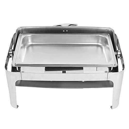 Chafing Dish 9L Chauffe-Plat en Acier Inoxydable Plat-réchaud Buffet Professionnel Réchauffeurs de Nourriture pour Restauration Buffet Fêtes, 67X53X44.5cm