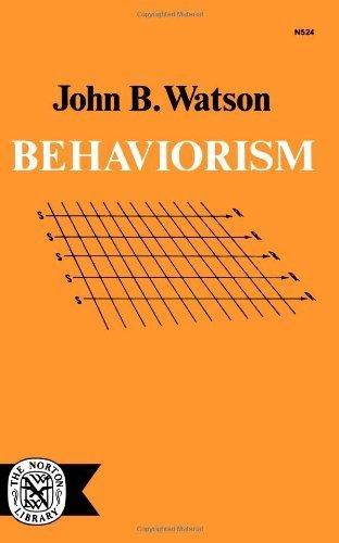 Behaviorism by Watson, John B. (1970) Paperback