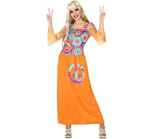 Atosa-56484 Disfraz Hippie, Color Naranja, XL (56484